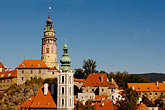 roof stock photography | Czech Republic, Cesky Krumlov, Cesky Krumlov Castle and town, image id 4-960-6998