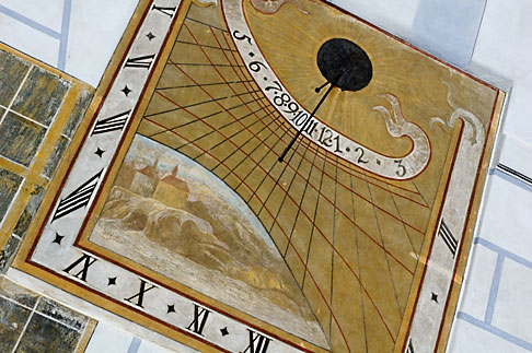 image 4-960-7044 Czech Republic, Cesky Krumlov, Medieval sundial