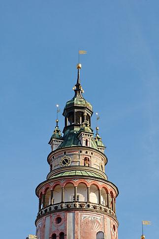image 4-960-7098 Czech Republic, Cesky Krumlov, Castle Round Tower