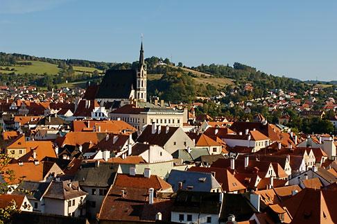 image 4-960-7102 Czech Republic, Cesky Krumlov, Cesky Krumlov castle and town