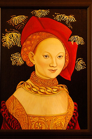 image 4-960-7255 Art, Medieval portrait of woman
