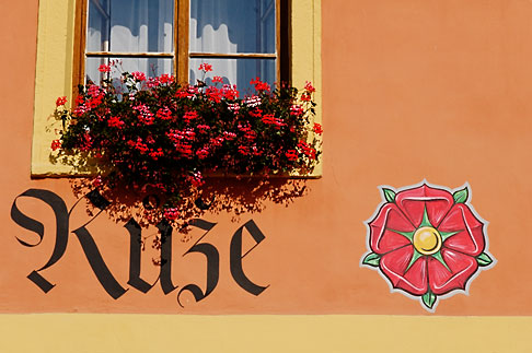 image 4-960-7272 Czech Republic, Rozmberk, WIndow with flowerbox