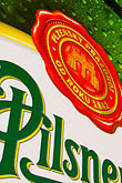 pilsner beer stock photography | Czech Republic, Czech, Pilsner sign, image id 4-960-7292