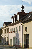 old house stock photography | Czech Republic, Pisek, Street scene, image id 4-960-7310