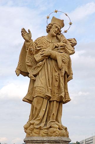 image 4-960-7355 Czech Republic, Pisek, Statue of Saint