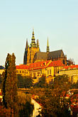 rooftops stock photography | Czech Republic, Prague, Hradcany Castle, image id 4-960-743