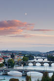 evening stock photography | Czech Republic, Prague, Bridges on the River Vlatava, image id 4-960-7445