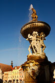 statue stock photography | Czech Republic, Ceske Budejovice, Samson Fountain, main square, image id 4-960-829