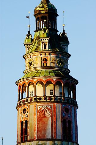 image 4-960-876 Czech Republic, Cesky Krumlov, Castle Round Tower