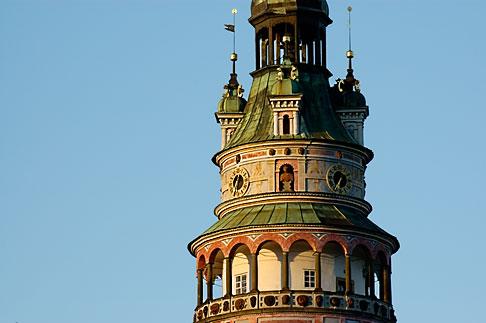 image 4-960-877 Czech Republic, Cesky Krumlov, Castle Round Tower