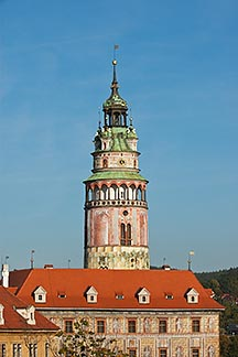 4-960-984  stock photo of Czech Republic, Cesky Krumlov, Castle Round Tower