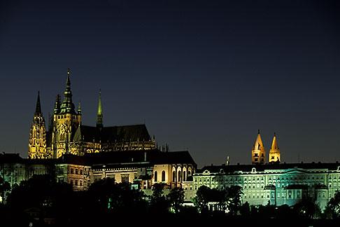 image 4-961-1 Czech Republic, Prague, Hradcany Castle at night