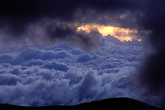 2-24-36  stock photo of Ecuador, Sunset on Chimborazo