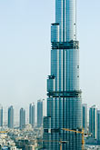 above stock photography | United Arab Emirates, Dubai, Burj Dubai tower, as of May 2008 the tallest man-made structure on Earth, image id 8-730-1509