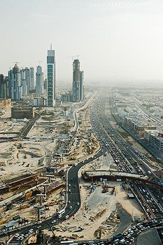 image 8-730-1521 United Arab Emirates, Dubai, Burj Dubai tower and surrounding construction
