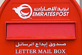 emirates post stock photography | United Arab Emirates, Dubai, Postbox, image id 8-730-1641