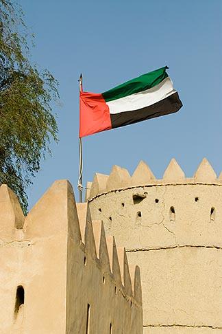 image 8-730-1794 United Arab Emirates, Abu Dhabi, Emirates flag, Sultan Bin Zayed Fort, Al Ain