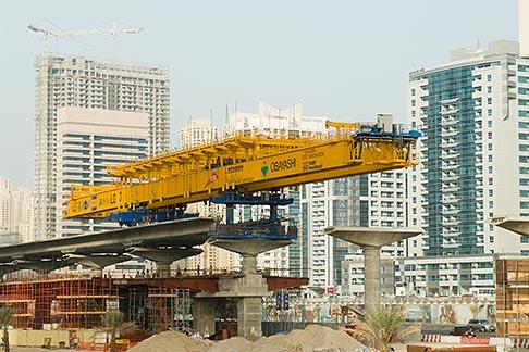 image 8-730-1882 United Arab Emirates, Dubai, Dubai Metro construction site