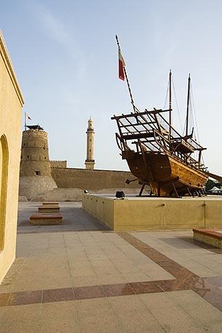 image 8-730-274 United Arab Emirates, Dubai, Dubai Fort and Museum, traditional Arab dhow sailing ship