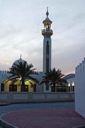 image 8-730-450 United Arab Emirates, Sharjah, Community mosque and minaret at dusk
