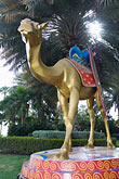 gilded statue stock photography | United Arab Emirates, Dubai, Burj Al Arab, Camel statue, image id 8-730-647