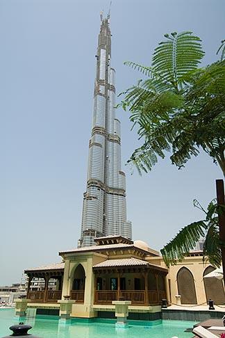 image 8-730-9222 United Arab Emirates, Dubai, Burj Dubai, and Al Manzil hotel pool