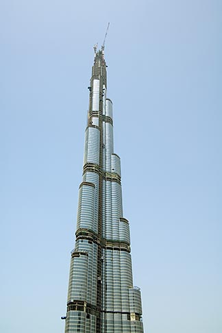 image 8-730-9225 United Arab Emirates, Dubai, Burj Dubai tower, as of May 2008 the tallest man made structure on Earth