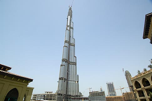 image 8-730-9228 United Arab Emirates, Dubai, Burj Dubai tower, as of May 2008 the tallest man made structure on Earth