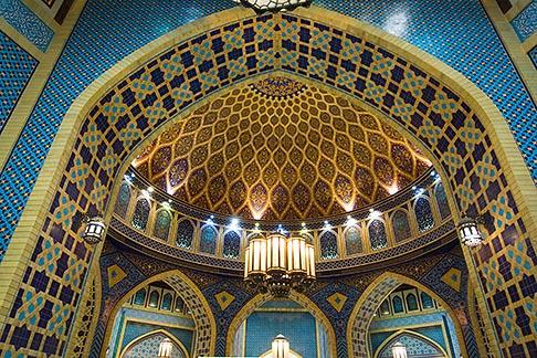 image 8-730-9260 United Arab Emirates, Dubai, Ibn Battuta Shopping Mall, arched ceiling with decorative tiles