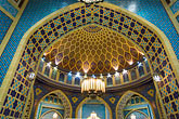 blue stock photography | United Arab Emirates, Dubai, Ibn Battuta Shopping Mall, arched ceiling with decorative tiles, image id 8-730-9260