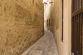 narrow stock photography | United Arab Emirates, Dubai, Alleyway, Bastakiya Quarter, restored historic site, image id 8-730-9351