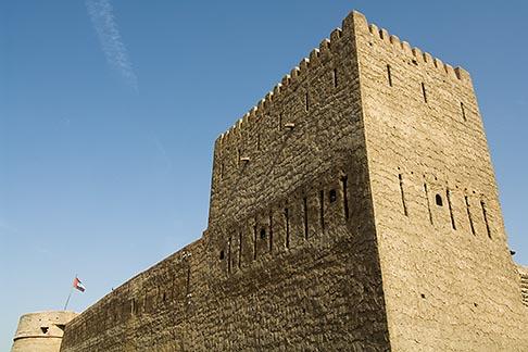 image 8-730-9436 United Arab Emirates, Dubai, Traditional wind tower, Bastakiya Quarter, restored historic site