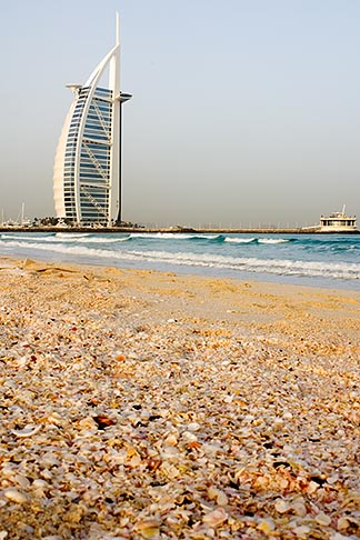 image 8-730-9531 United Arab Emirates, Dubai, Burj Al Arab from Jumeirah Beach