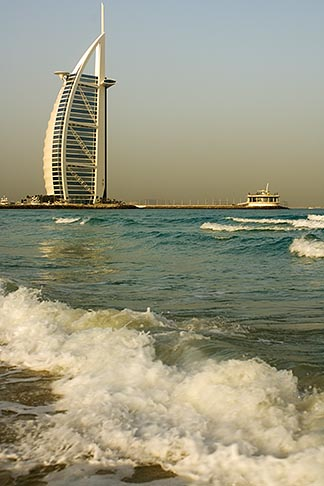 image 8-730-9564 United Arab Emirates, Dubai, Burj Al Arab from Jumeirah Beach