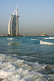 water stock photography | United Arab Emirates, Dubai, Burj Al Arab from Jumeirah Beach, image id 8-730-9565