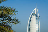 inn stock photography | United Arab Emirates, Dubai, Burj Al Arab and palms, image id 8-730-9587