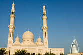 mosque courtyard stock photography | United Arab Emirates, Dubai, Mosque and minarets, image id 8-730-9615