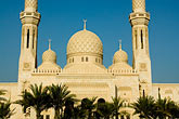 mosque courtyard stock photography | United Arab Emirates, Dubai, Mosque and minarets, image id 8-730-9629