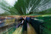 out of focus stock photography | England, Chelsea Flower Show, Leeds Metropolitan University Garden,crowd scene, image id 3-750-47