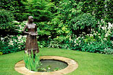 "pond stock photography | England, Chelsea Flower Show, Barakura Lace and Tapestry Garden, sculpture ""Ann"" by Jane Hogben, image id 3-750-88"