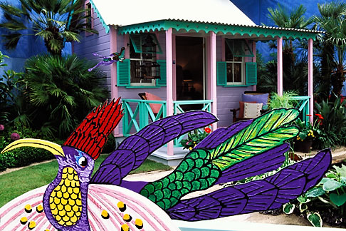image 3-754-76 England, Chelsea Flower Show, Barbados Chattel House Garden