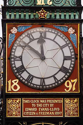 image 7-695-7338 England, Chester, Eastgate Clock