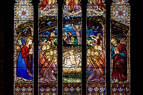 image 7-695-7436 England, Chester, Chester Cathedral, Nativity stained glass window