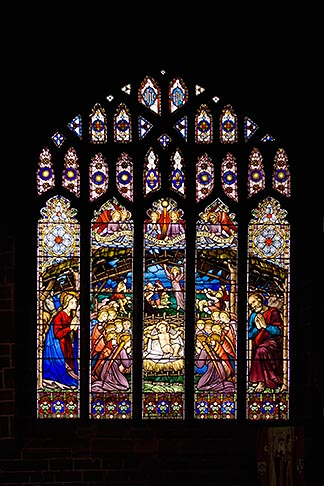 image 7-695-7437 England, Chester, Chester Cathedral, Nativity stained glass window