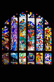vertical stock photography | England, Chester, Chester Cathedral, Creation stained glass window, image id 7-695-7455
