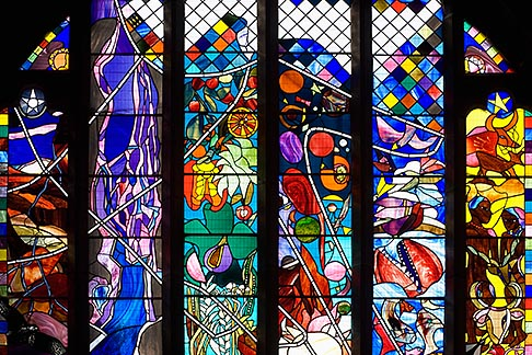 image 7-695-7456 England, Chester, Chester Cathedral, Creation stained glass window