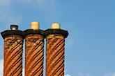 three brick chimneys stock photography | England, Three brick chimneys, image id 7-695-7505