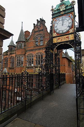 image 7-695-9947 England, Chester, Eastgate clock