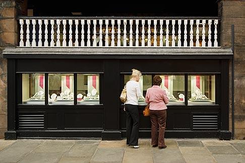 image 7-695-9960 England, Chester, Women windowshopping