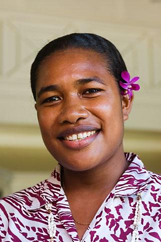 image 5-610-2833 Fiji, Viti Levu, Portrait, Fijian woman
